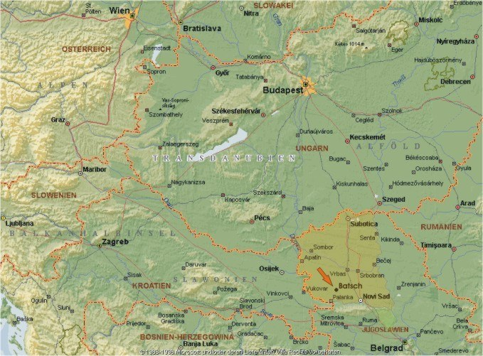 Jugoslawien Karte Früher.Batschka